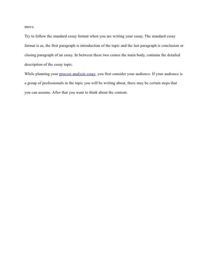 process of analysis essay