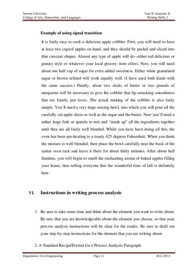 example process analysis essay