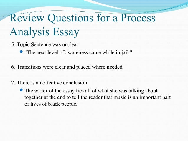 process analysis essay thesis statement Personal analysis essay introduction  in each step of the writing process the final essay will be 500-750 words long it will include a thesis statement that is.