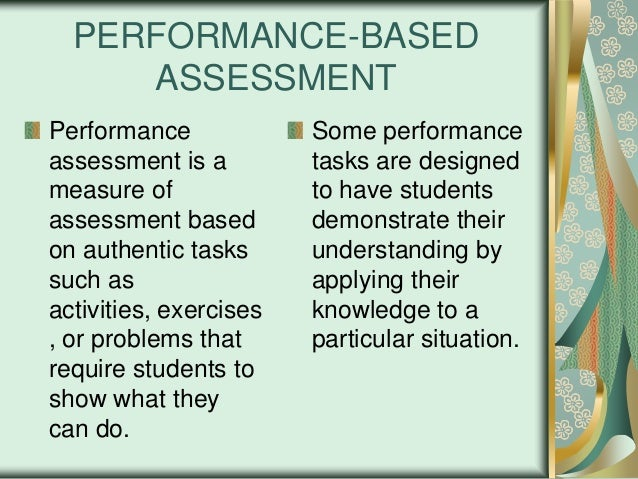 Process And Product PerformaneBased Assessment