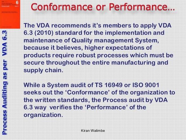process auditing as per vda 6 3 rh slideshare net VDA 6.3 Standard VDA 6.3 Example
