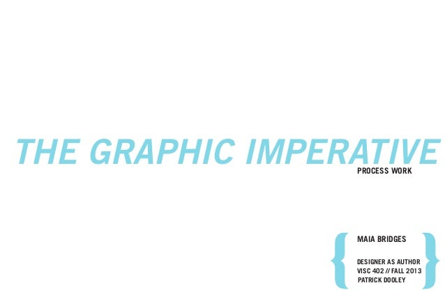 MAIA BRIDGES VISC 402 // FALL 2013 THE GRAPHIC IMPERATIVEPROCESS WORK PATRICK DOOLEY DESIGNER AS AUTHOR