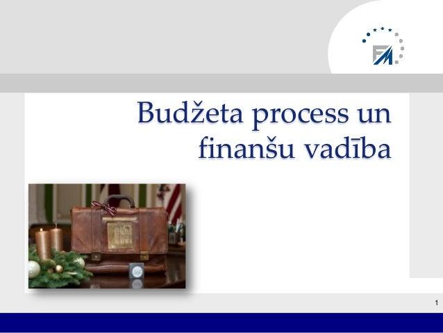 Budžeta process un finanšu vadība 1