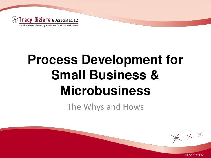 Process Development for Small Business & Microbusiness<br />The Whys and Hows<br />