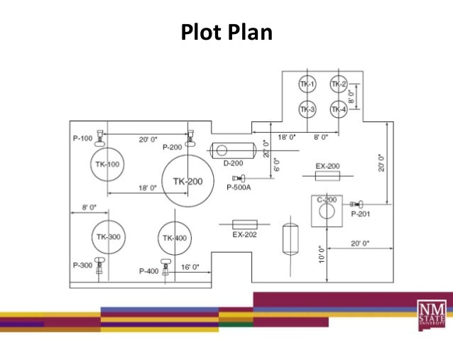 Process diagrams lecture for Plot plan drawing