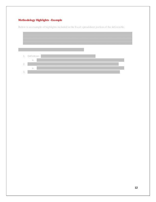 xxxxxxxxxxxxxxxxxxxxxxxxxxxxx 5 xxxxxxxxxxxxxxxxxxxxxxxxxxxxxxxxxx 14 12 methodology - Process Documentation Methodology
