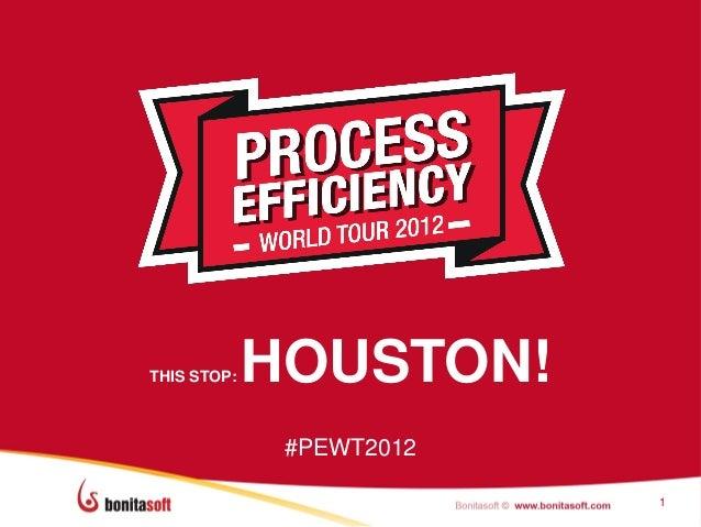THIS STOP:   HOUSTON!              #PEWT2012                          1