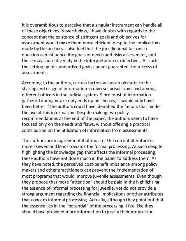 juvenile delinquency essay pdf