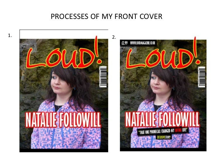 PROCESSES OF MY FRONT COVER<br />1.<br />2.<br />