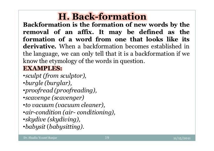 back formation