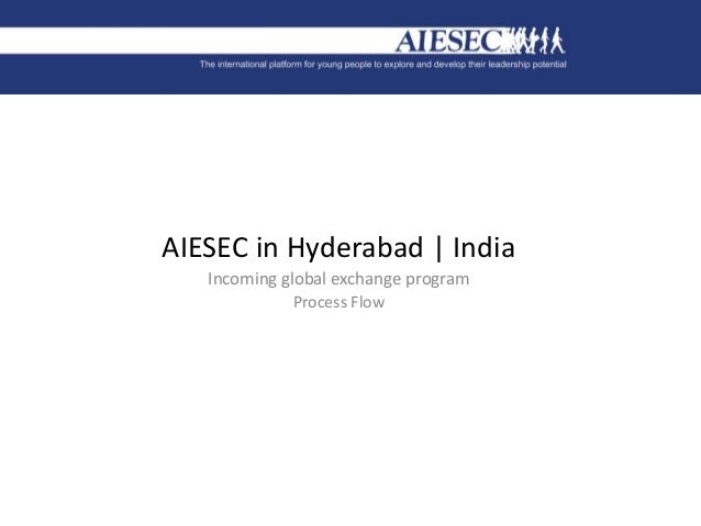 AIESEC in Hyderabad | India Incoming global exchange program Process Flow