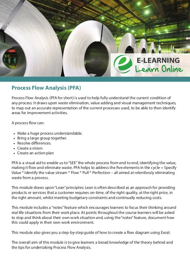 Process flow analysis e learning pathway group lean courses sciox Choice Image