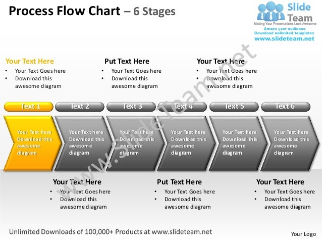 Process flow chart 6 stages powerpoint templates 0712 toneelgroepblik Gallery