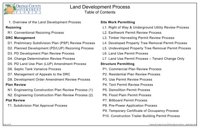 Land Development Steps : Land development process orange county florida