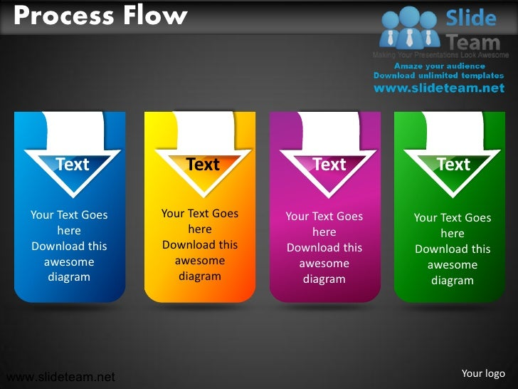 Process Flow       Text             Text             Text             Text   Your Text Goes   Your Text Goes   Your Text G...