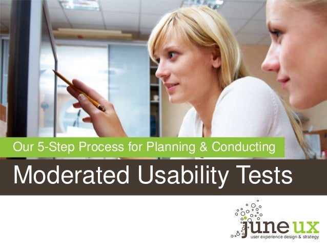 Moderated Usability Tests user experience design & strategy Our 5-Step Process for Planning & Conducting
