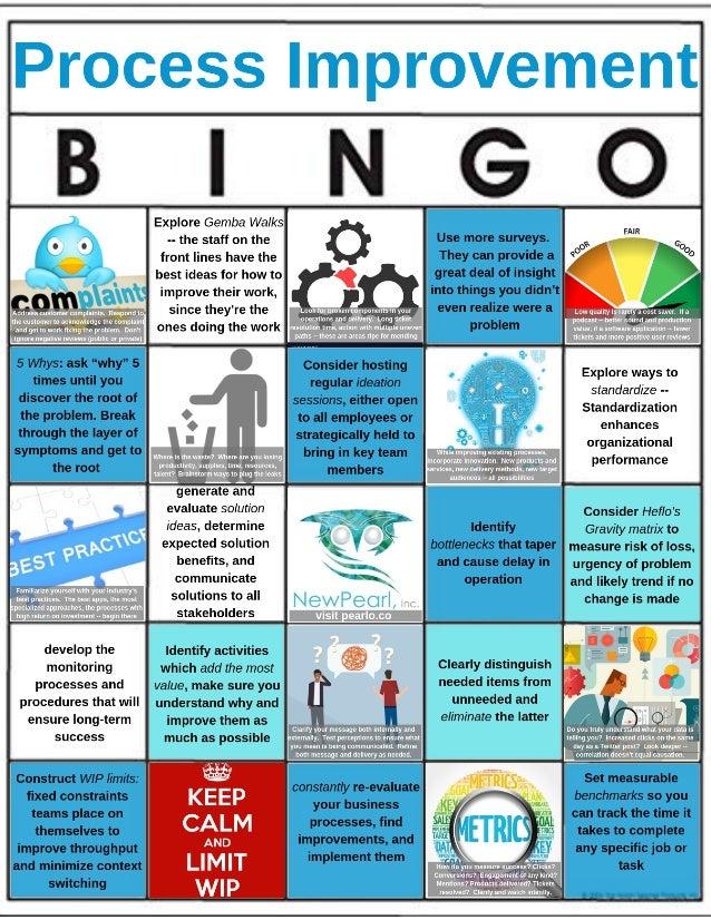 Process improvement bingo