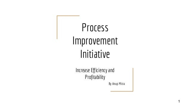 Process Improvement Initiative Increase Efficiency and Profitability By Anup Mitra 1