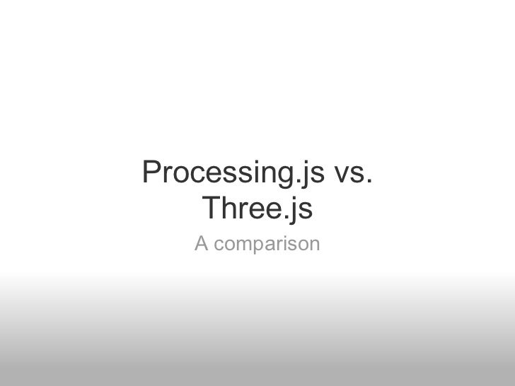 Processing js vs  three js