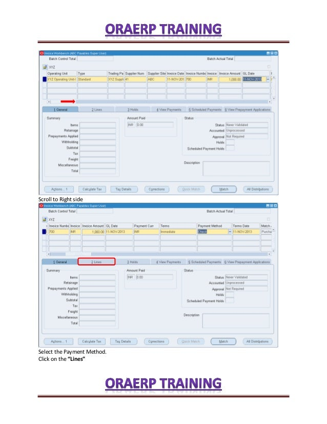 processing standard invoices and verify supplier balances