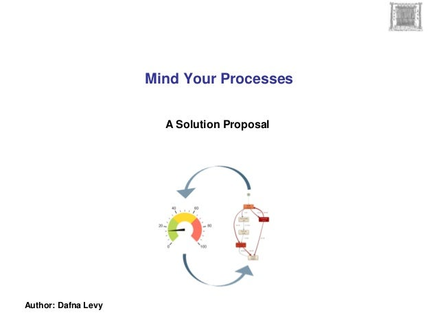 Mind Your Processes Author: Dafna Levy A Solution Proposal