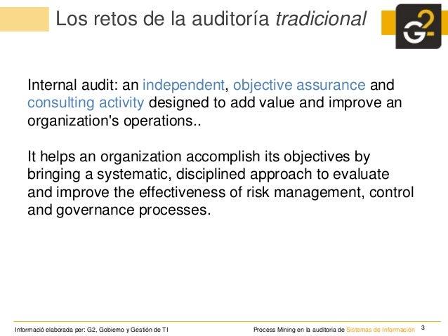 La minería de procesos en la auditoria de sistemas de información Slide 3