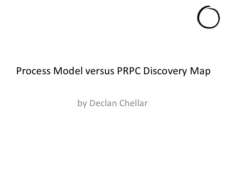 Process Model versus PRPC Discovery Map            by Declan Chellar