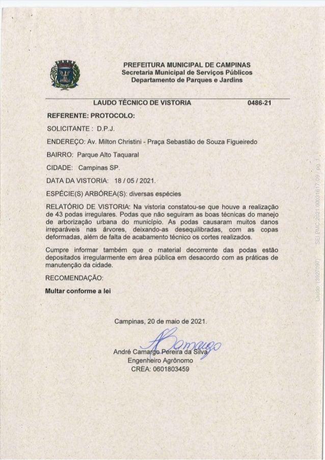 Laudo (3927097) SEI PMC.2021.00031617-09 / pg. 1
