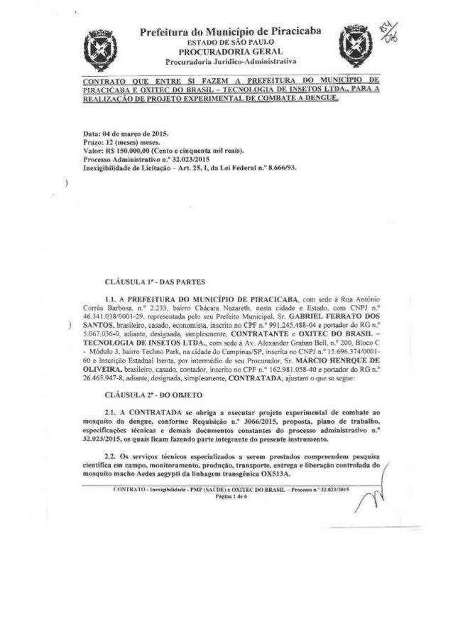 Prefeitura do Município de Piracicaba nsmoo m:  sim PAULO PROCURADORIA GERAL  Procuradoria . Iuridico-Adnninistrativa     ...
