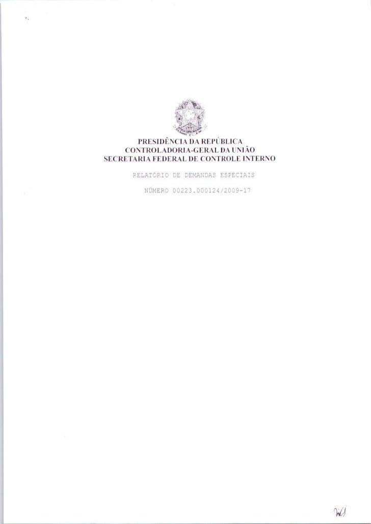 Processo CGU - Gestão 2005-2008