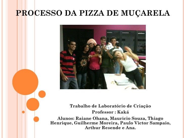 PROCESSO DA PIZZA DE MUÇARELA             Trabalho de Laboratório de Criação                       Professor : Kaká       ...