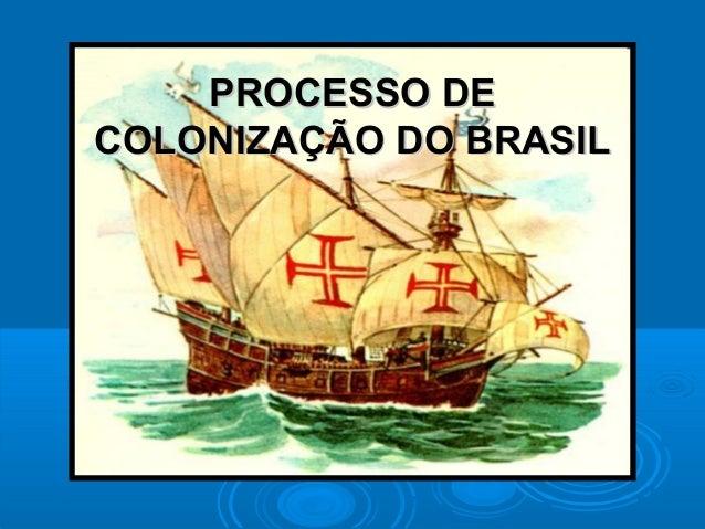PROCESSO DEPROCESSO DE COLONIZAÇÃO DO BRASILCOLONIZAÇÃO DO BRASIL