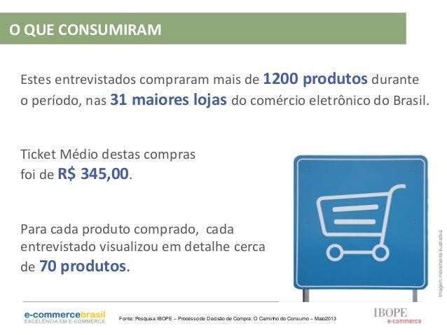 Estes entrevistados compraram mais de 1200 produtos duranteo período, nas 31 maiores lojas do comércio eletrônico do Brasi...