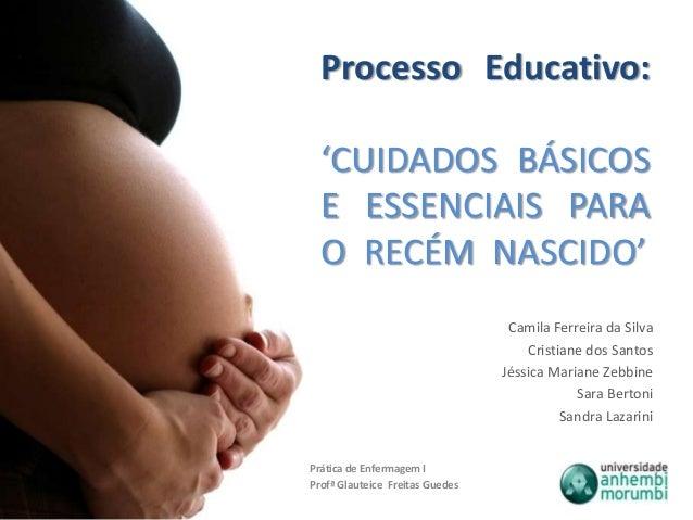Processo Educativo:'CUIDADOS BÁSICOSE ESSENCIAIS PARAO RECÉM NASCIDO'Camila Ferreira da SilvaCristiane dos SantosJéssica M...