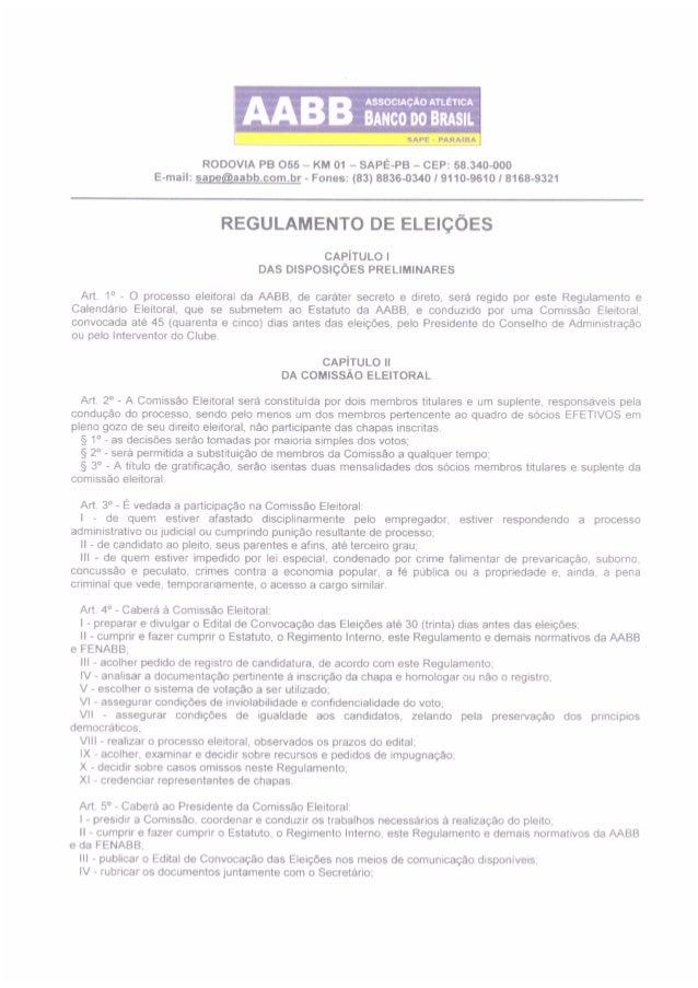 Processo Eleitoral Completo - AABB-Sapé-PB