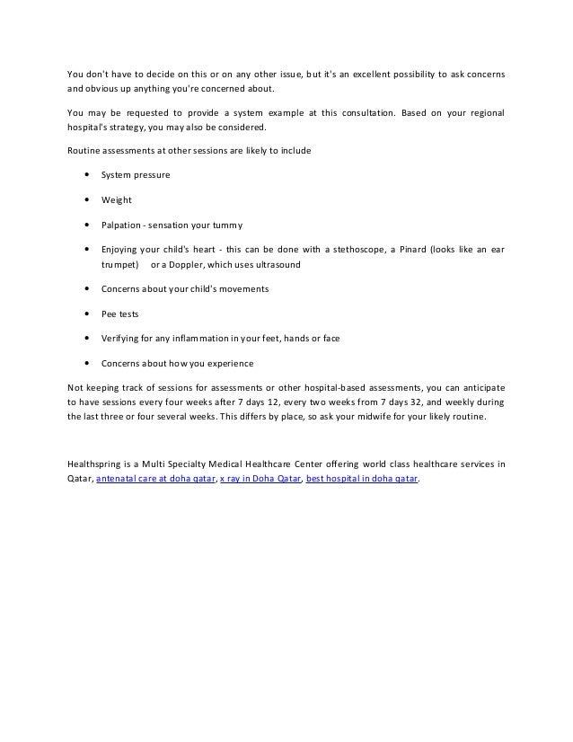Process of antenatal care screening test