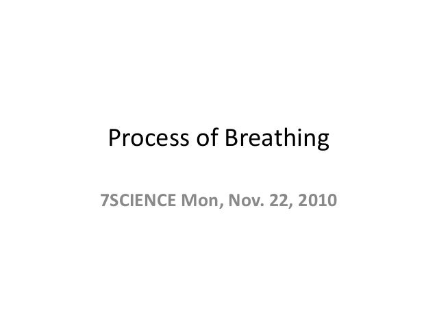 Process of Breathing 7SCIENCE Mon, Nov. 22, 2010