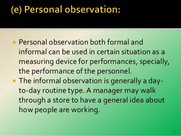 personal observation What is observation observati n is way of gathering data by watching behavior,  events, or noting physical characteristics in their natural setting observations.