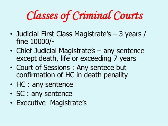 powers of criminal courts under crpc