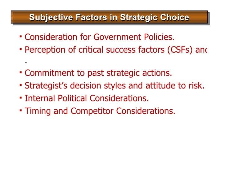 process of strategic choice pdf