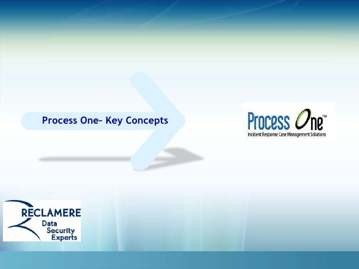 Process One– Key Concepts