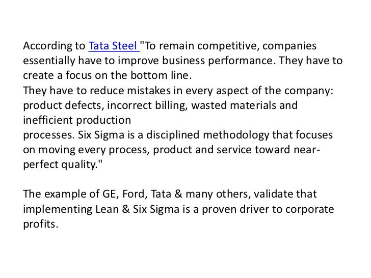 implementing six sigma at ge fanuc case study