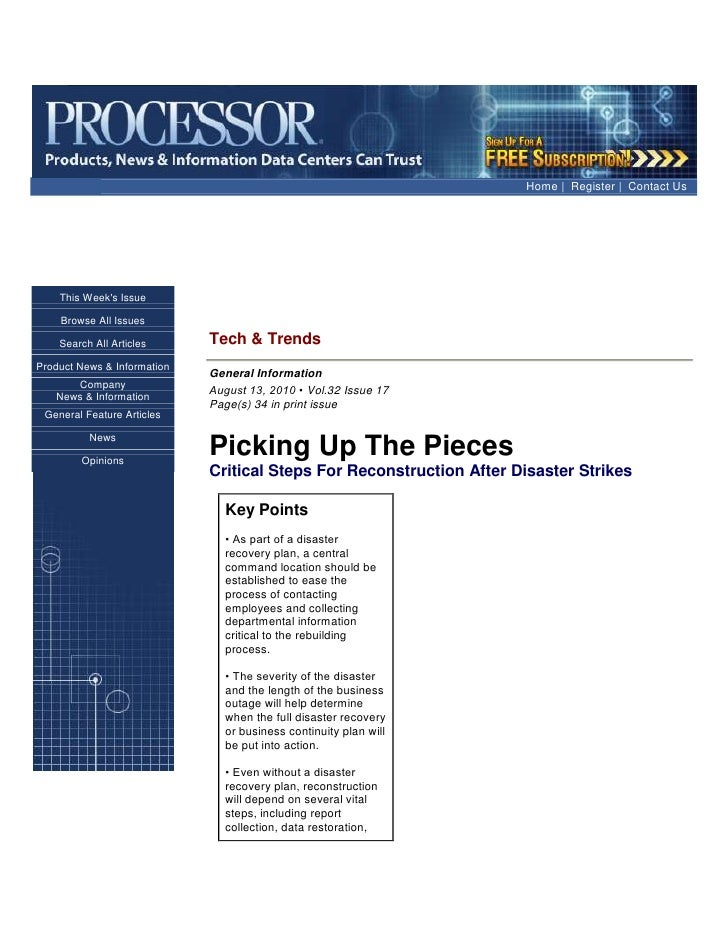 Home| Register| Contact Us<br />This Week's IssueBrowse All IssuesSearch All ArticlesProduct News & InformationComp...