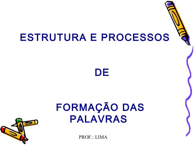 PROF.: LIMAESTRUTURA E PROCESSOSDEFORMAÇÃO DASPALAVRAS