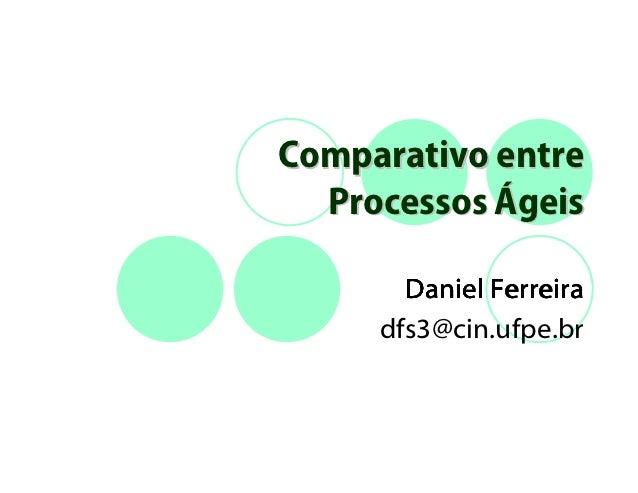 Comparativo entre  Processos Ágeis       Daniel Ferreira     dfs3@cin.ufpe.br