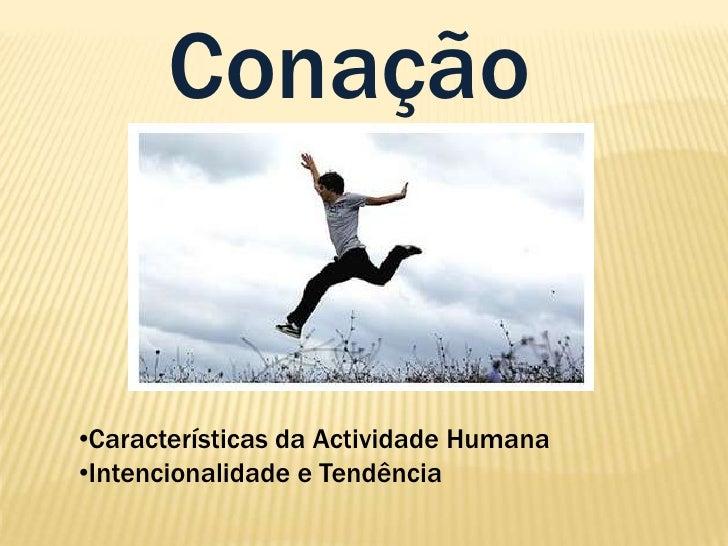 Conação<br /><ul><li>Características da Actividade Humana