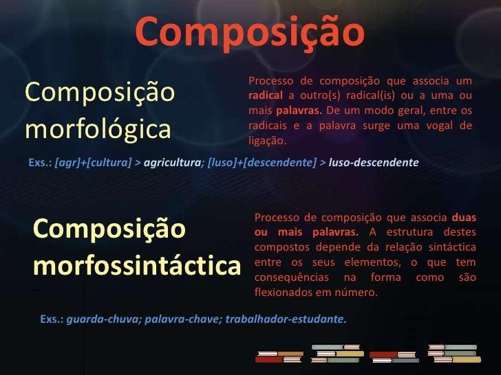Formação de palavras por composição