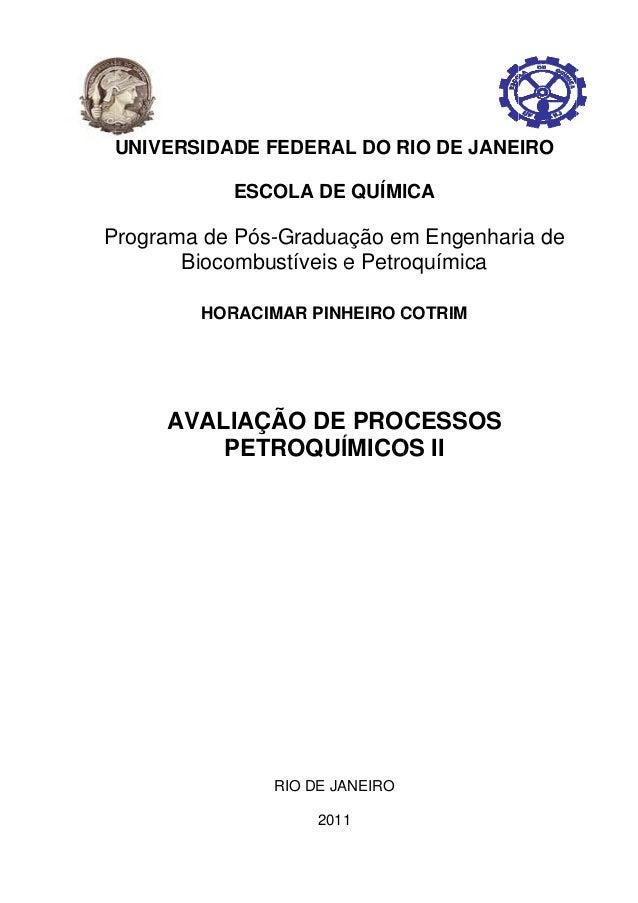P UNIVE Program A RSIDA ma de Bioco HOR AVAL P ADE FE ESCO Pós-G ombust RACIMA IAÇÃ PETR RI EDERA LA DE Gradua tíveis e AR...