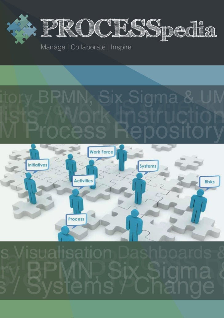 PROCESSpedia      Manage | Collaborate | Inspireitory BPMN, Six Sigma & UMards/& KPIs ChecklProcess Visualists Work Instru...