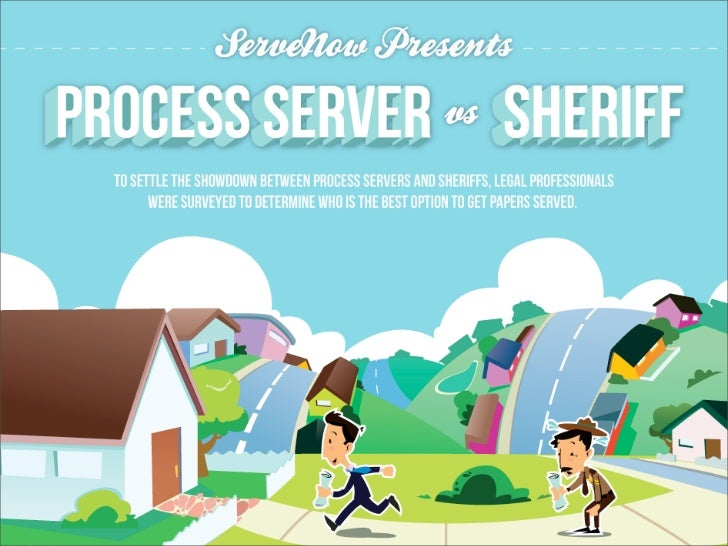 Process Server vs Sheriff    WHO SHOULD YOU HIRE TO SERVE YOUR LEGAL PAPERS?